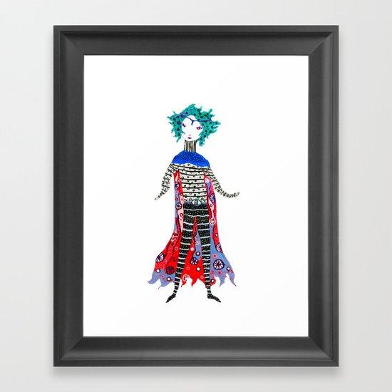 Caped Ramirez Framed Art Print