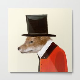 the dapper fox Metal Print