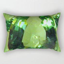 LIME GREEN PERIDOT GEMS AUGUST BIRTHSTONES Rectangular Pillow