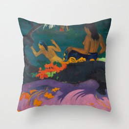 "Paul Gauguin ""Fatata te Miti (By the Sea)"" Throw Pillow"