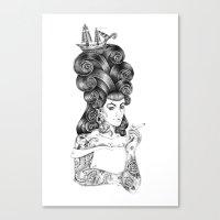 rockabilly Canvas Prints featuring rockabilly by vasodelirium