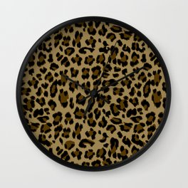 Leopard Print Pattern Wall Clock