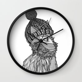 Mr. Henry in a Beanie Wall Clock