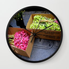 At The Florist's Before Opening Wall Clock