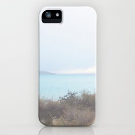 Blue Lake on a Cloudy Day III iPhone Case
