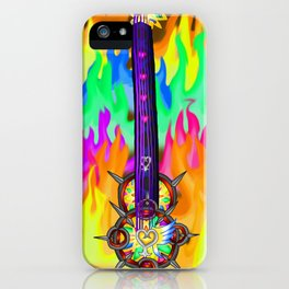 Fusion Keyblade Guitar #196 - Eternal Flame & Nightmare's End Reality Shift iPhone Case