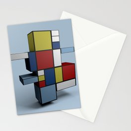 Composition with Red Blue and Yellow Stationery Cards