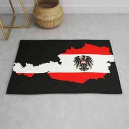 Austrian Flag and Map Rug
