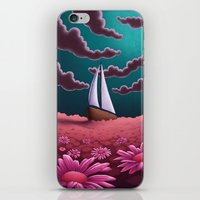 pushing daisies iPhone & iPod Skins featuring Pushing Daisies by slewisillustration