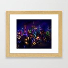 Midnight City Framed Art Print