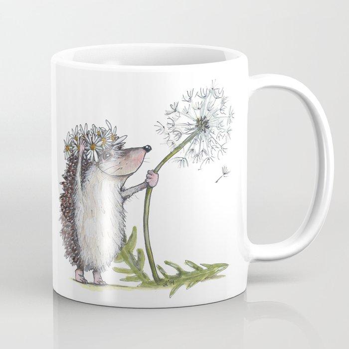 Hedgehog & Dandelion Coffee Mug