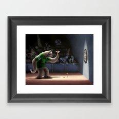 Sloth Darts Framed Art Print