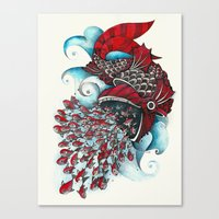 eat Canvas Prints featuring eat by Condutta