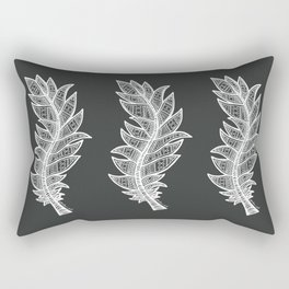 White Feather Rectangular Pillow