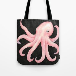 Pink Octopus Tote Bag