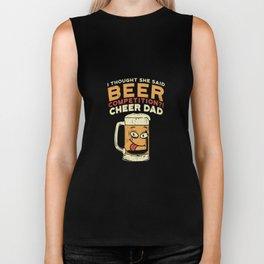 Funny Cheerleading Shirts I college pompon girls Biker Tank