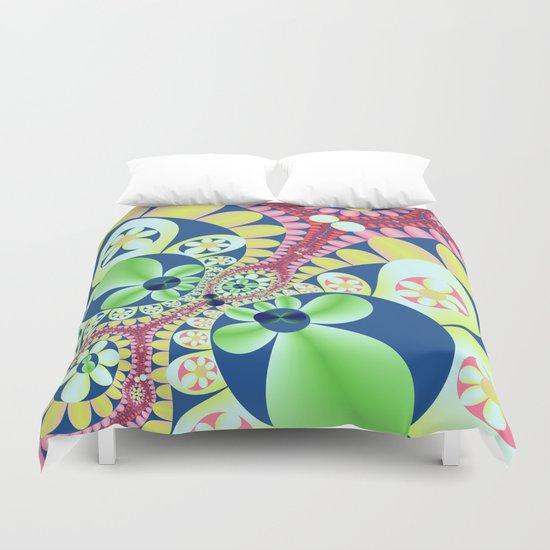 Floral fantasy pattern design Duvet Cover