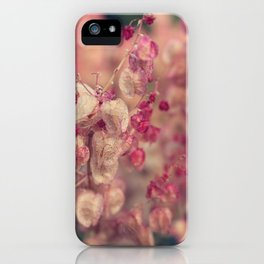 Rumex flower iPhone Case