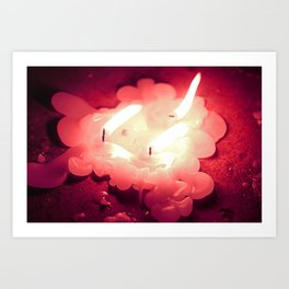 Oh, it burns! Art Print