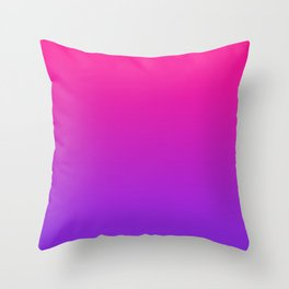 Plastic Pink Proton Purple Ombre Gradient Neon Pink Ultra Violet Pattern Throw Pillow