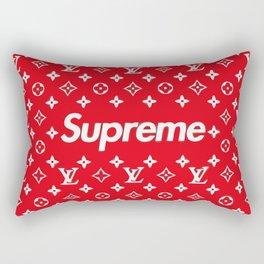 supreme x LV red Rectangular Pillow