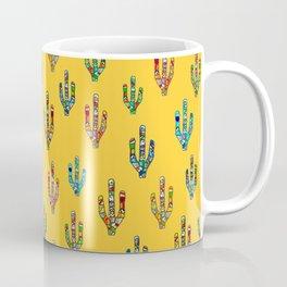 Mosaic Cacti on Yellow Coffee Mug