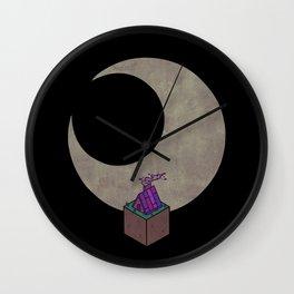 Look At The Moon Wall Clock