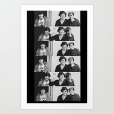 One Direction - Louis Tomlinson, Harry Styles, and Niall Horan - B&W Art Print