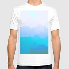 Pink Sky Mens Fitted Tee White MEDIUM