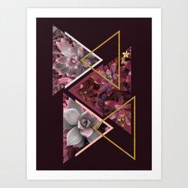 Wine Succulents #society6 #decor #buyart Art Print