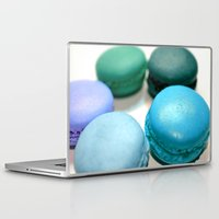 macaroons Laptop & iPad Skins featuring Macarons / Macaroons by Whimsy Romance & Fun