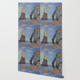 Claude Monet - The Cliffs at Etretat Wallpaper