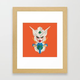 gundam exia flat design Framed Art Print