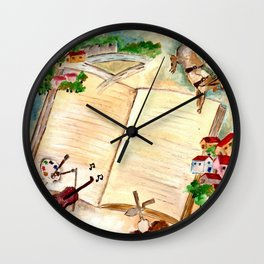 Books and imagination Wall Clock
