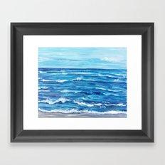 Choppy Ocean Painting Framed Art Print