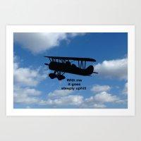 airplane Art Prints featuring airplane by Karl-Heinz Lüpke