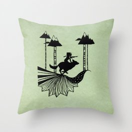 Midnight Hunt Throw Pillow