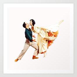 Gene Kelly and Cyd Charisse - Brigadoon Art Print