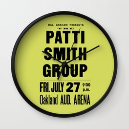 The Patti Smith Group Concert Poster 1979 Wall Clock