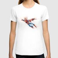 spider man T-shirts featuring Spider-Man by Nicola Girello