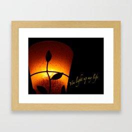 VALENTINE - YOU LIGHT UP MY LIFE Framed Art Print