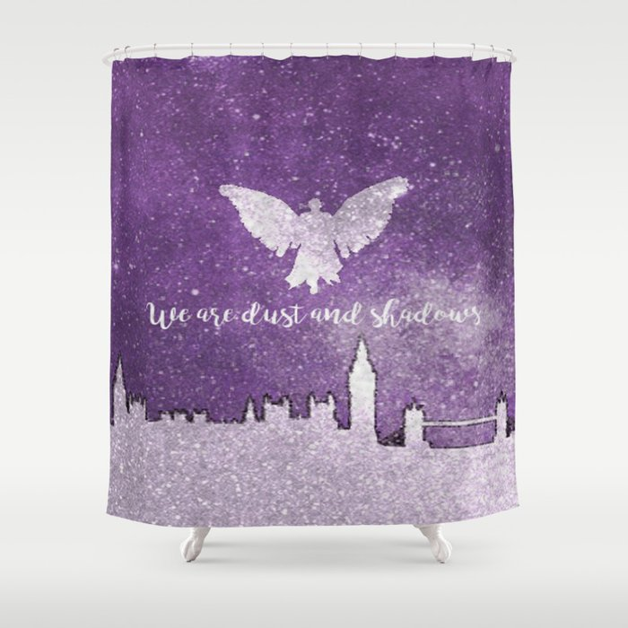 We are dust and shadows Shower Curtain
