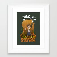 adventure is out there Framed Art Prints featuring Adventure by BlancaJP - Jonna Piltti