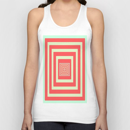 Coral and Light Blue Unisex Tank Top