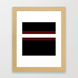 Team Colors...Maroon and white stripeswith black Framed Art Print