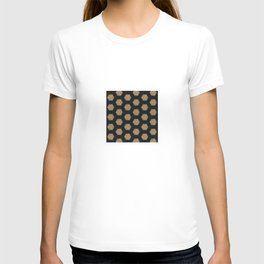 Textured Tan and Black Marble Geo Patterns T-shirt