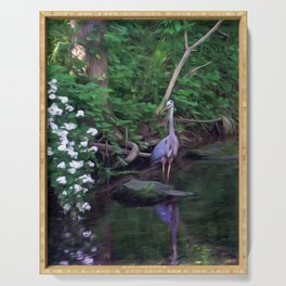 The Great Blue Heron Serving Tray