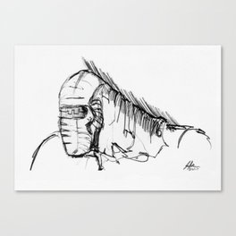 Warbot Sketch #011 Canvas Print