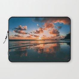 Sunset on the Beach Laptop Sleeve