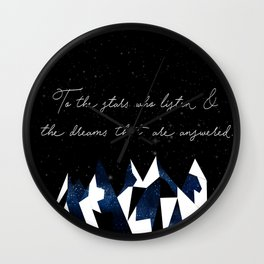 A Court of Mist and Fury Quote Wall Clock